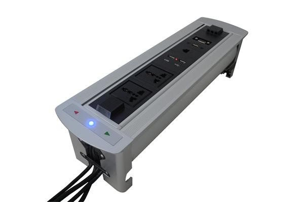 ZeShan JXP-5 Flipping Electric Socket with USB charger and VGA for High Class Conference Table manual flipping socket with 3 eu power and charge usb 50 pcs by dhl suit for indonesia chile italy oman korea netherlands
