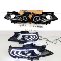 Июля King светодиодный габаритные огни DRL с туман крышка лампы чехол для Ford Fusion Mondeo победы Fusion 2013 ~ 17, 1:1 замена