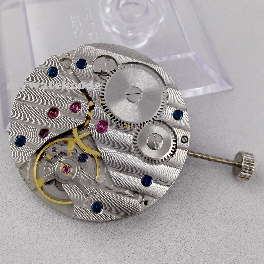 17 Jewels 6497 mechanical hand winding mens classic vintage watch movement M02 цена и фото