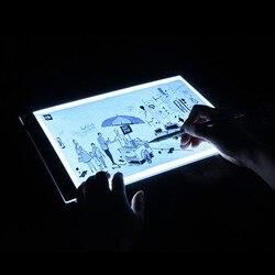 Tablero de dibujo con iluminación LED Ultra A4 mesa de dibujo almohadilla de luz para tableta libro de bocetos lienzo en blanco para pintura acrílica acuarela