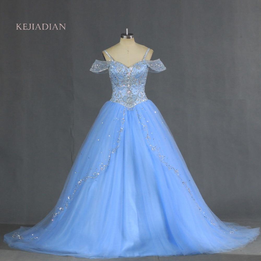 Vestidos De 15 Anos Debutante Gowns Sweet Ball Gowns Cinderella Quinceanera Dresses Princess blue Quinceanera Dresses