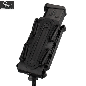 Image 1 - IDOGEAR US army Magazine Pouches Military Fastmag Belt Clip plastic molle pouch bag 9mm softshell G code Pistol Mag Carrier tall