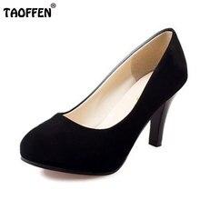 ผู้หญิงรองเท้าส้นสูงแบรนด์ที่มีคุณภาพผู้หญิงกริชแพลตฟอร์มแฟชั่นส้นรองเท้าส้นปั๊มขนาด34-42 WA0245