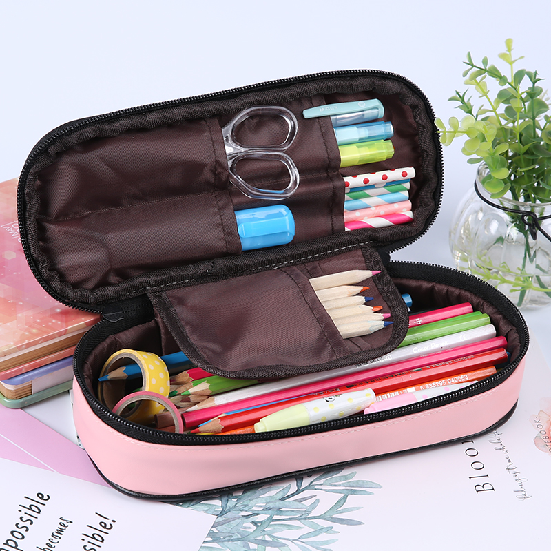 Pencil Case 2017 Children School Stationery Fashion Pencil Bag For Office Supplies For Kids Student Kawaii Pencil Bag Pen Bag big capacity high quality canvas shark double layers pen pencil holder makeup case bag for school student with combination coded lock
