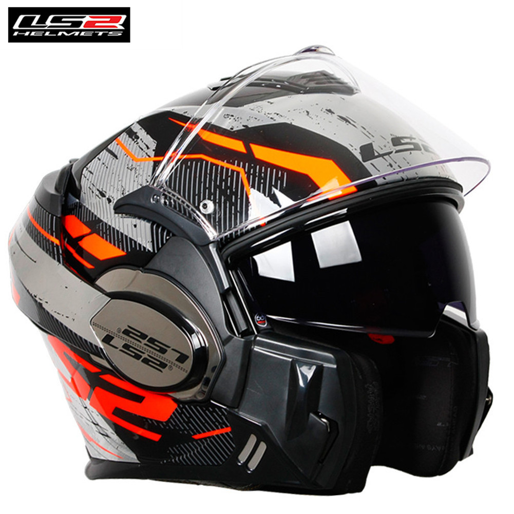 Ls2 180 Degree Flip-front Modular Design Valiant Ff399 Motorcycle Helmet Convertible Racing Casque Casco Moto Capacetes Cruiser ls2 helmet