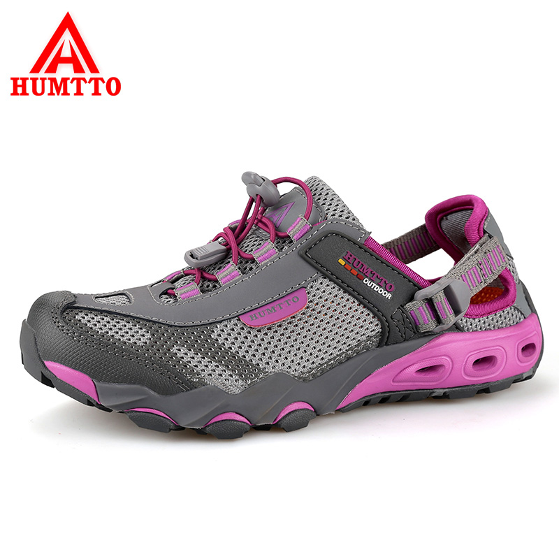 HUMTTO Womens Aqua Shoes Outdoor Hiking Mesh Breathable Shoes Quick-drying Wading Shoes Non-slip Walking Sport Camping Sneakers