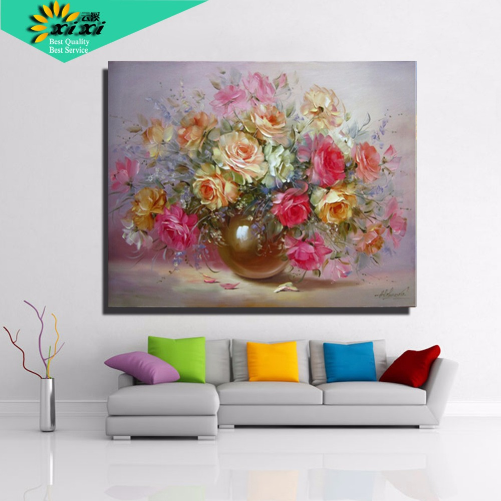 40 50 picture quadros home decor wall art flower for Canvas decorations for home