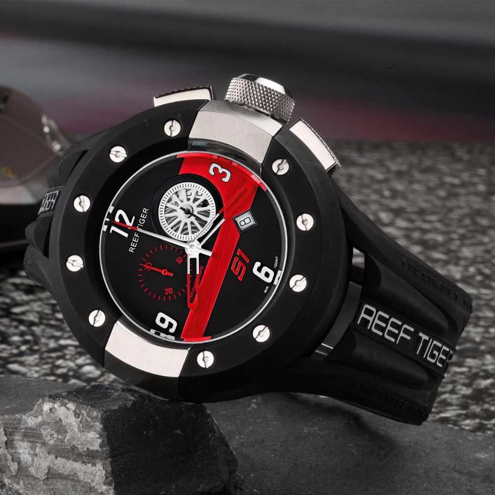 שונית טייגר/RT מעצב ספורט שעונים לגברים לוח מחוונים חיוג קוורץ שעון תאריך הכרונוגרף שעונים RGA3027