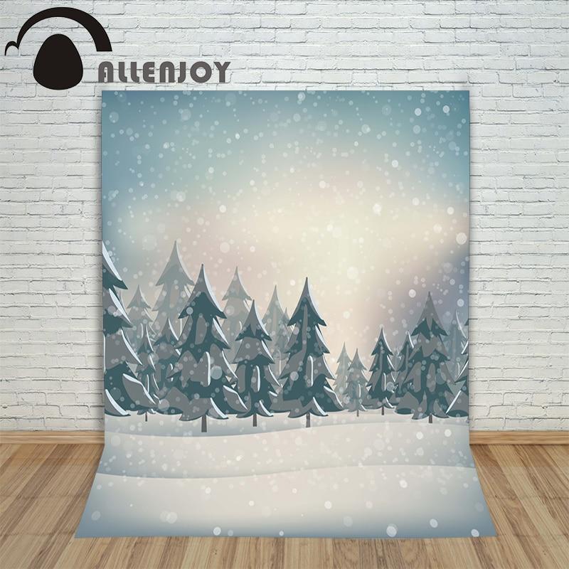 все цены на Allenjoy photography backdrops santa claus snow winter  kids vinyl Digital Printing photo props profession christmas backgrounds онлайн