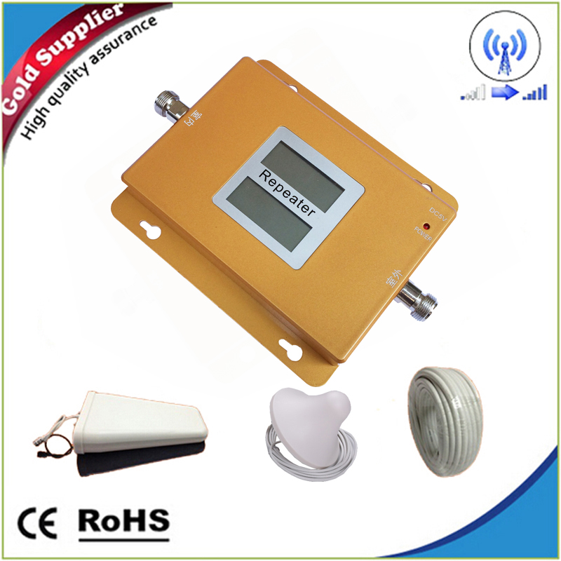 Home/office SIGNAL Repeater Kit GSM 3G 850/2100 MHz Cell Phone Signal Booster Repeater Dual Band Amplifier 65dB Complete Kit