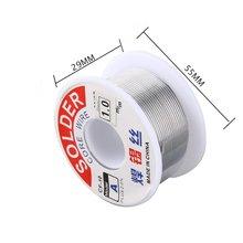 цена на 1.0mm 2% Flux Tin Lead Rosin Roll Core Silver Solder Wire Welding Soldering Repairing Tool Reel Melt Kit Electric Melting