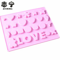 Silicone chocolate mold LOVE design shape fondant candy/soap molds cake decorating tools kitchen accessories free shipping Y-183