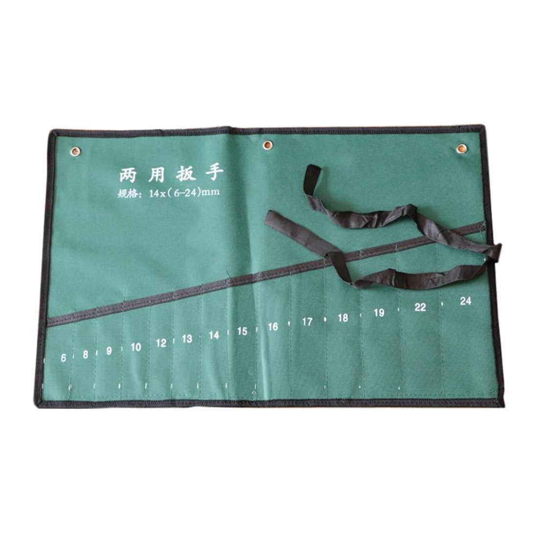 8/10/14/20 bolsos Roll Up Ferramentas Chave Spanner chave Organizador Caso Bolsa Saco De Armazenamento Da Lona