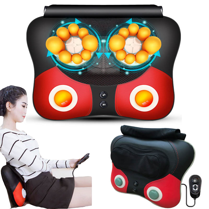 Health Care Hanriver Cervical Spine Massager Multi-function Body Vibration Kneading Household Electric Pillow Chair Cushion Always Buy Good
