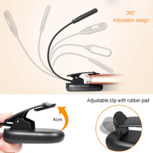 New Hot Clamp Clip On LED Reading Light Flexible Bedside Lam