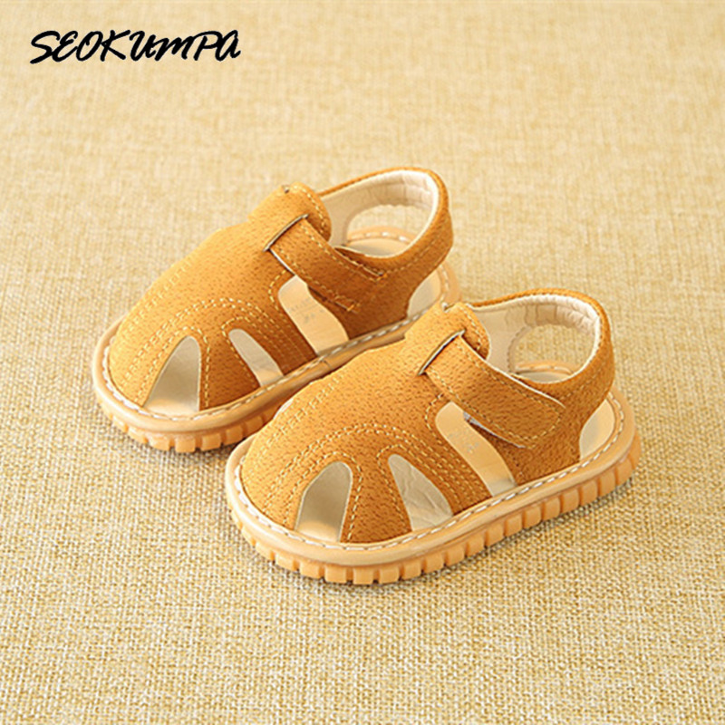 2018 New Lovely Baby Girls Sandals Summer Walker Shoes Soft Leather Antislip Sole Baby Boys Toddler Toe-cap Childrens Sandals