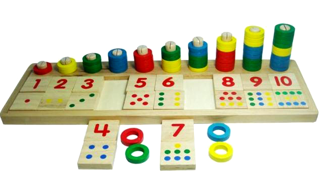 Free Shipping Baby Toys Montessori Educational Wooden Toys Teaching Logarithm Version Kids Wooden Blocks Toys Gift 1pcs