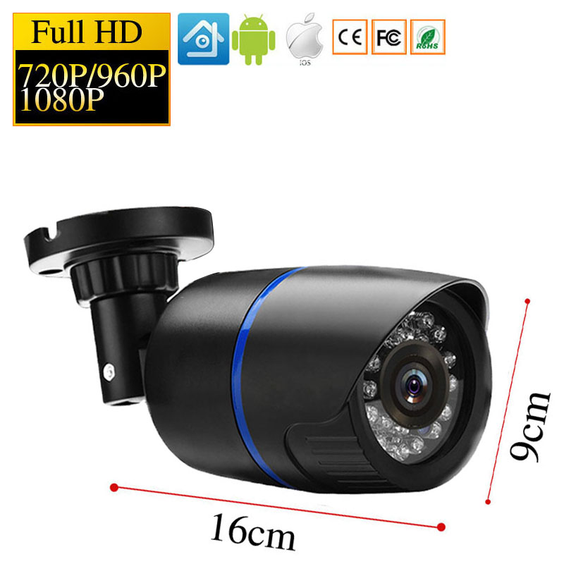1080P HD IP Camera Security Indoor Outdoor Bullet CCTV POE Camera ONVIF Video Surveillance Cameras Night Vision P2P IP Cam hd 1080p ip camera 48v poe security cctv infrared night vision metal outdoor bullet onvif network cam security surveillance p2p
