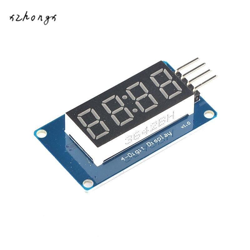 XNWY TM1637 four digital tube display module, with time clock block, adjustable light
