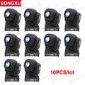 Songxu 10 pçs/lote venda quente led 30 w spots de luz 9/11 canais dj efeito luzes do palco dmx led cabeça em movimento/sx-mh0130s
