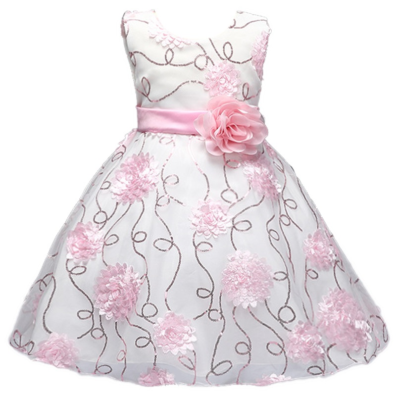 4-12yrs New High-grade embroidered   Flower     Girl     Dress   For Party Kids Wedding   Dresses   Christmas   Dress     Girls   Clothes