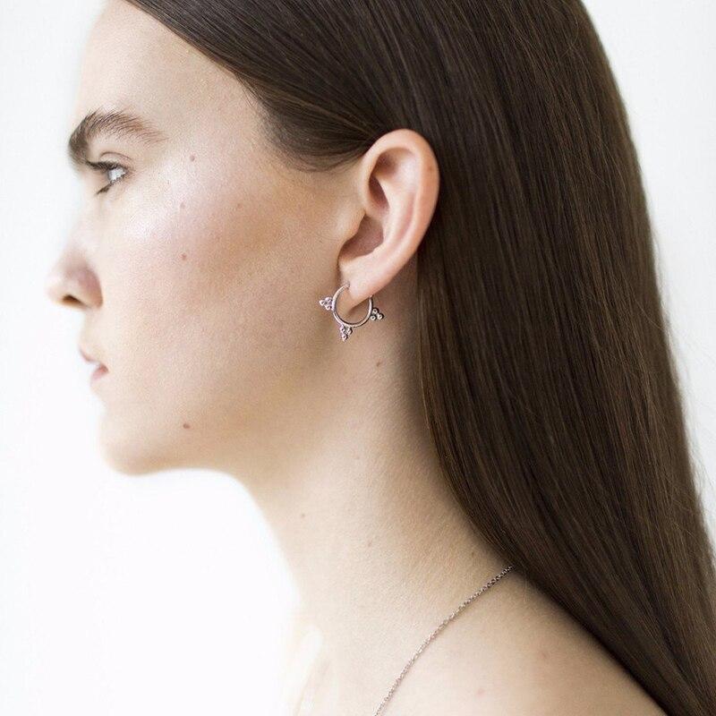 100% QualitäT Lwong 925-sterling-silver Öffnen Hoop Ohrringe Schmuck Ohrsetzen Moderne Mininalist Ohrring Perlen Tiny Kleine Creolen Frauen