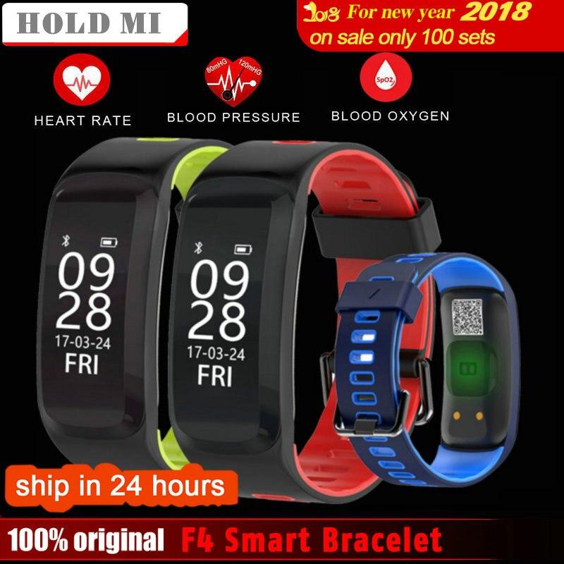 D'origine Tenir Mi No 1 F4 Smart Bracelet Pression Artérielle en Oxygène du Sang Moniteur de Fréquence Cardiaque bande À Puce Pour IOS/Android