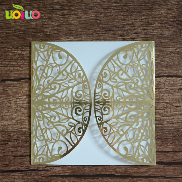 Metallic gold and silver paper elegant lastest design wedding metallic gold and silver paper elegant lastest design wedding invitation card wedding and party decorating cheap filmwisefo