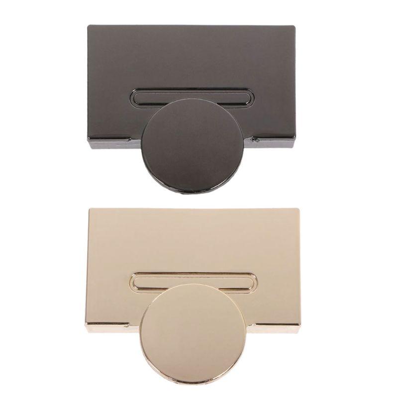 Magnetic Clasp Turn Lock Twist Locks Metal Hardware For DIY Handbag Bag Purse