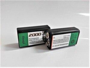 Image 3 - 4 stuks 9v SUPER GROTE 2000mAh NiMH batterijen Oplaadbare 9 Volt Batterij + Universele 9v aa aaa batterij oplader
