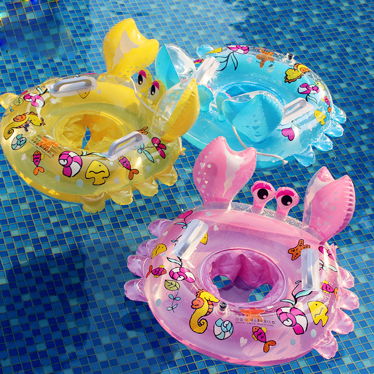 Cartoon Little Crab Baby Swimming Circle Baby Boiling Swimming Circle Float  Swimming Float Toys For Children Pool Water Floats