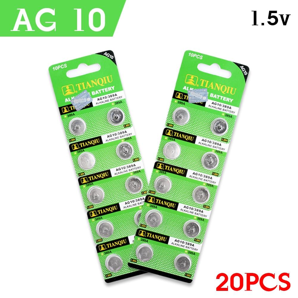 YCDC Pile Montre Relogio Celular Pilas Reloj Pile Bouton Horloge Batterijen Batterie 20 X AG10 189 LR1130 SR1130 389A RW89 1.55V