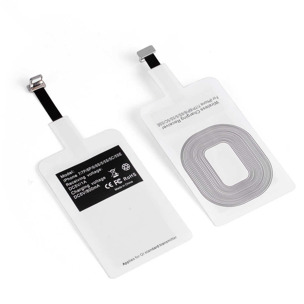 Universal Qi Wireless Charger Receiver For iPhone 5 5S 7 6S 6 Android Micro USB Smart Charging Receptor in Mobile Phone Chargers from Cellphones Telecommunications