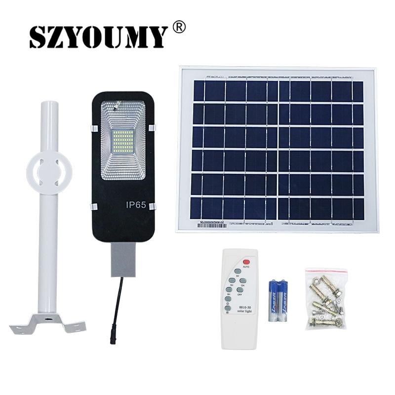 SZYOUMY Waterproof IP65 10W 20W 30W 50W 100W LED Solar Light Street Lamp for Backyard Garden