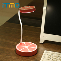 ITimo LED Desk Lamps Kids Book Reading Light USB Rechargeable Eye Protection Orange Shaped 3 Modes