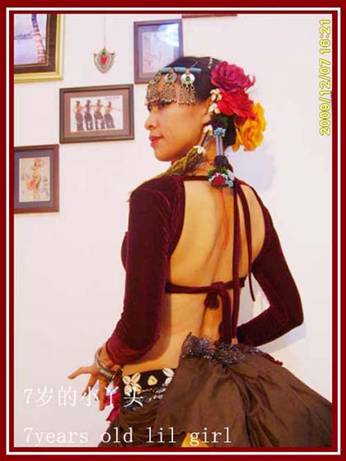 Velvet Fat Chance Tribal Choli Belly Dance Long Sleeve Top FA08-13