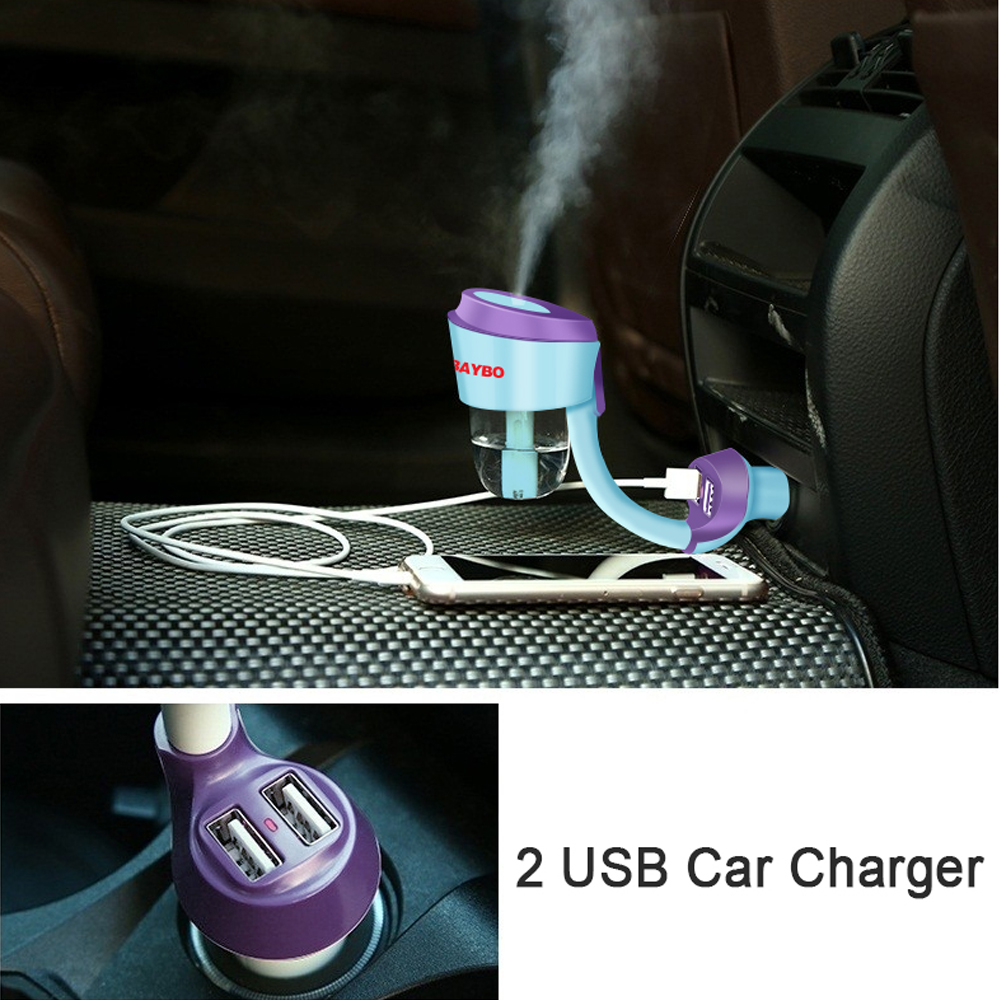 12V Car Aromatherapy Diffuser Air Humidifier Portable Humidifier Air Aroma Diffuser Mist Maker Ultrasonic Aroma Diffuser