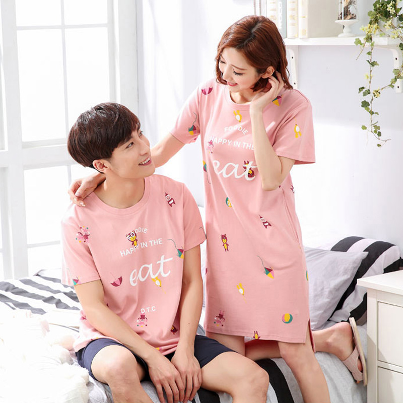 2 Pieces Women + Men Couple Pajamas Autumn Pajama  Sale  Cotton Pajamas Home Clothing For Husband Wife