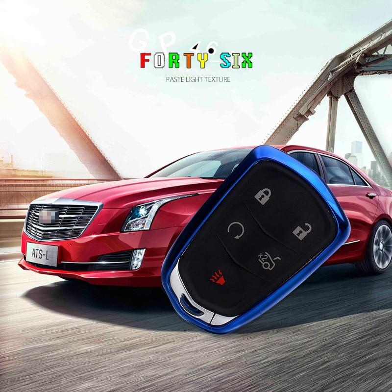 GPFORTYSIX Soft TPU Car Key Cover Case Shell Bag For Cadillac CTS ATS 28T CTS-V coupe SRX Escalade srx atsl xts 2015 XT5 CT6