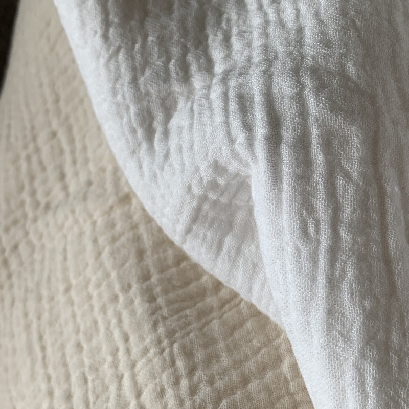 bdaba6eaab7 Natural 100% Cotton double Gauze Voile Fabric 135 cm 53'' width 125 gsm baby  blanket sewing fabric 755 meters wholesale CD01-in Fabric from Home &  Garden on ...
