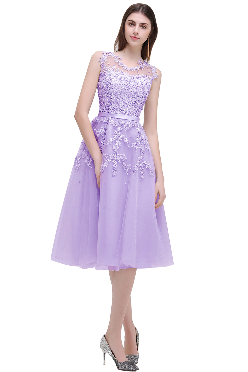 Aliexpress.com : Buy Cheap Dust Pink Beaded Lace Tulle Prom ...