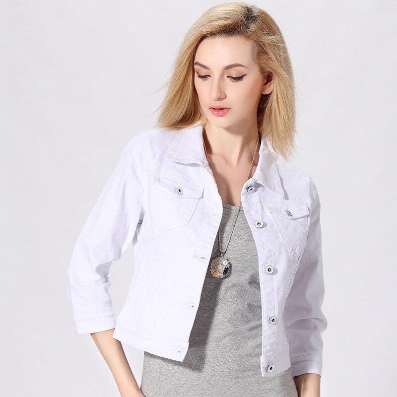 White Denim Jacket + Black Pants