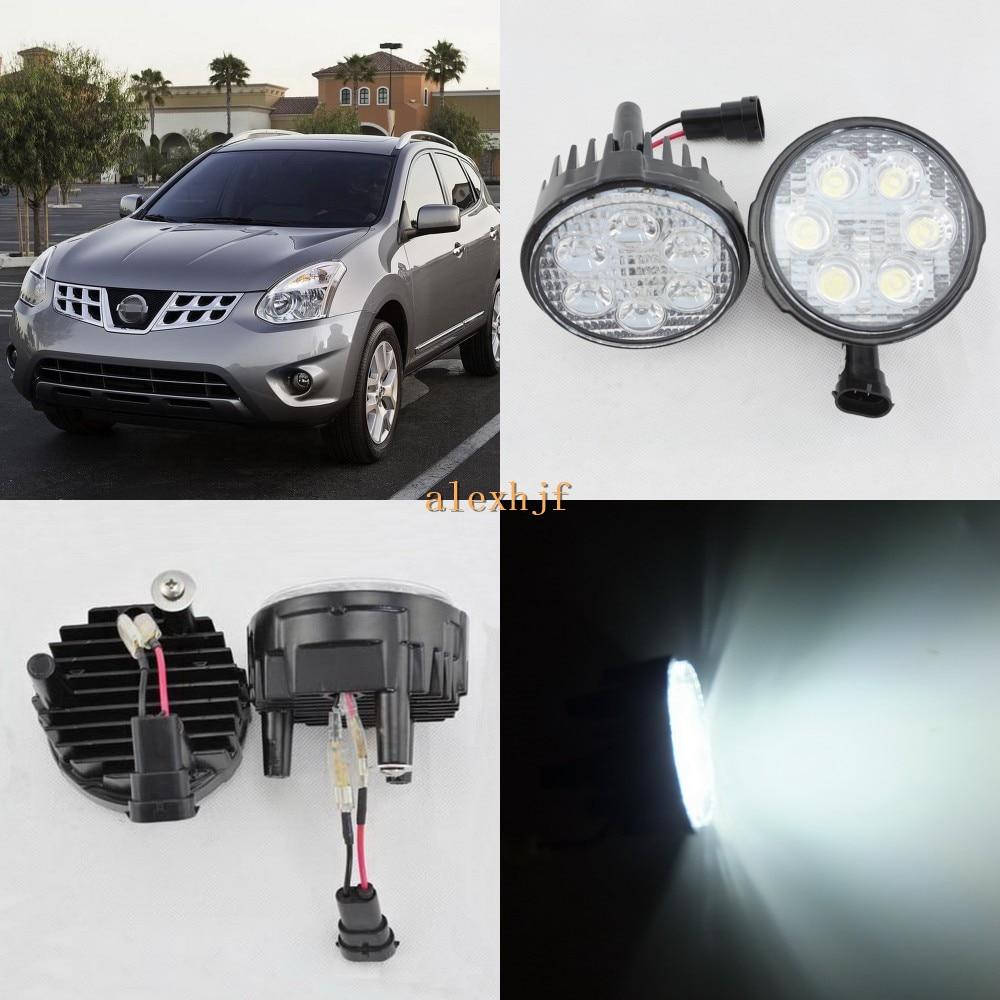 July King 18W 6LEDs H11 LED Fog Lamp Assembly Case for Nissan Rouge 2011~2013, 6500K 1260LM LED Daytime Running Lights