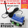 Free Shipping Special Happy RTU5024 GSM Gate Opener Relay Switch Remote Access Control Wireless Sliding Gate