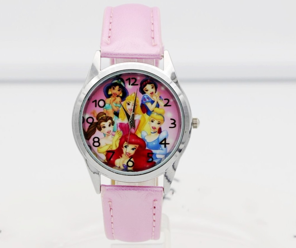 2019 Hot Selling Children Cute Princess Girl Cartoon Birthday Party Gift For Kids Quartz Watch
