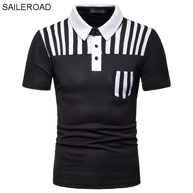 SAILEROAD   Polo   Shirt Man Slim Fit   Polo   Men Clothing Striped Fashion Tops Men's   Polo   Shirt Men Jerseys Turn-down Collar Tee Tops