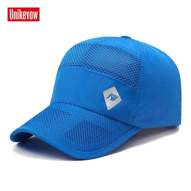 Nueva llegada Unisex gorras de béisbol sombrero respirable secado rápido  hombres mujeres casual primavera y verano f328e537882