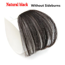 MERISI HAIR 4Color Clip In Hair Bangs Hairpiece Synthetic Fake Bangs Hair Piece Clip In Hair Extensions(China)