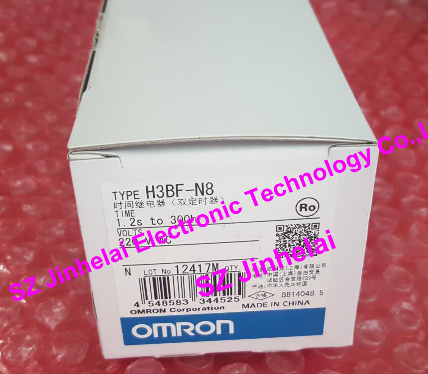New and original  OMRON  Time relay  H3BF-N8  AC220V genuine taiwan research anv time relay ah2 yb ac220v