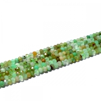 Natural 4mm Rondelle Green Chrysoprase Beads Full Strand